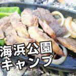 若洲海浜公園デイキャンプ!夏キャンプランチは冷麺が最高!!【前編】