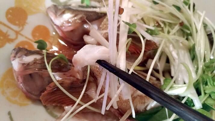 釣ったカサゴで清蒸魚!魚を蒸して油をかけるだけで簡単旨い!!