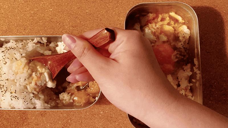 メスティン「いなばの缶詰カレーライス」でランチ|家でキャンプごはん