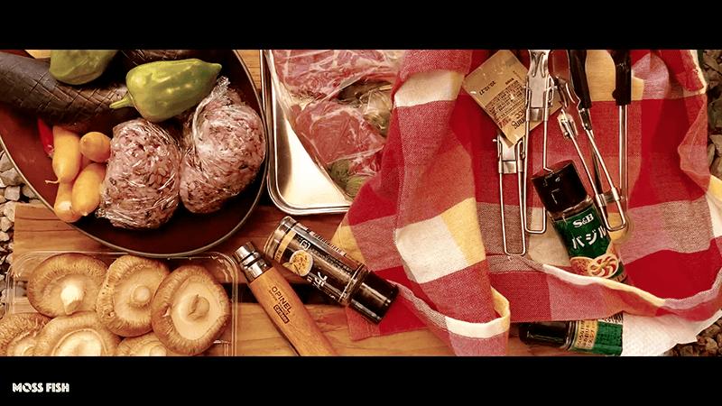 メスティンで燻製ハニーナッツと燻製かまぼこのち庭BBQでラムチョップ