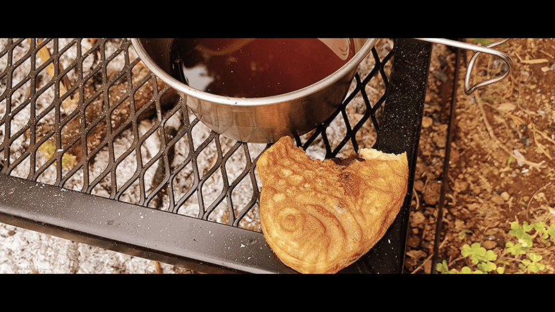 焚き火ラーメンと家庭菜園作りのち焚火珈琲&たい焼き|ほんのり田舎暮らし